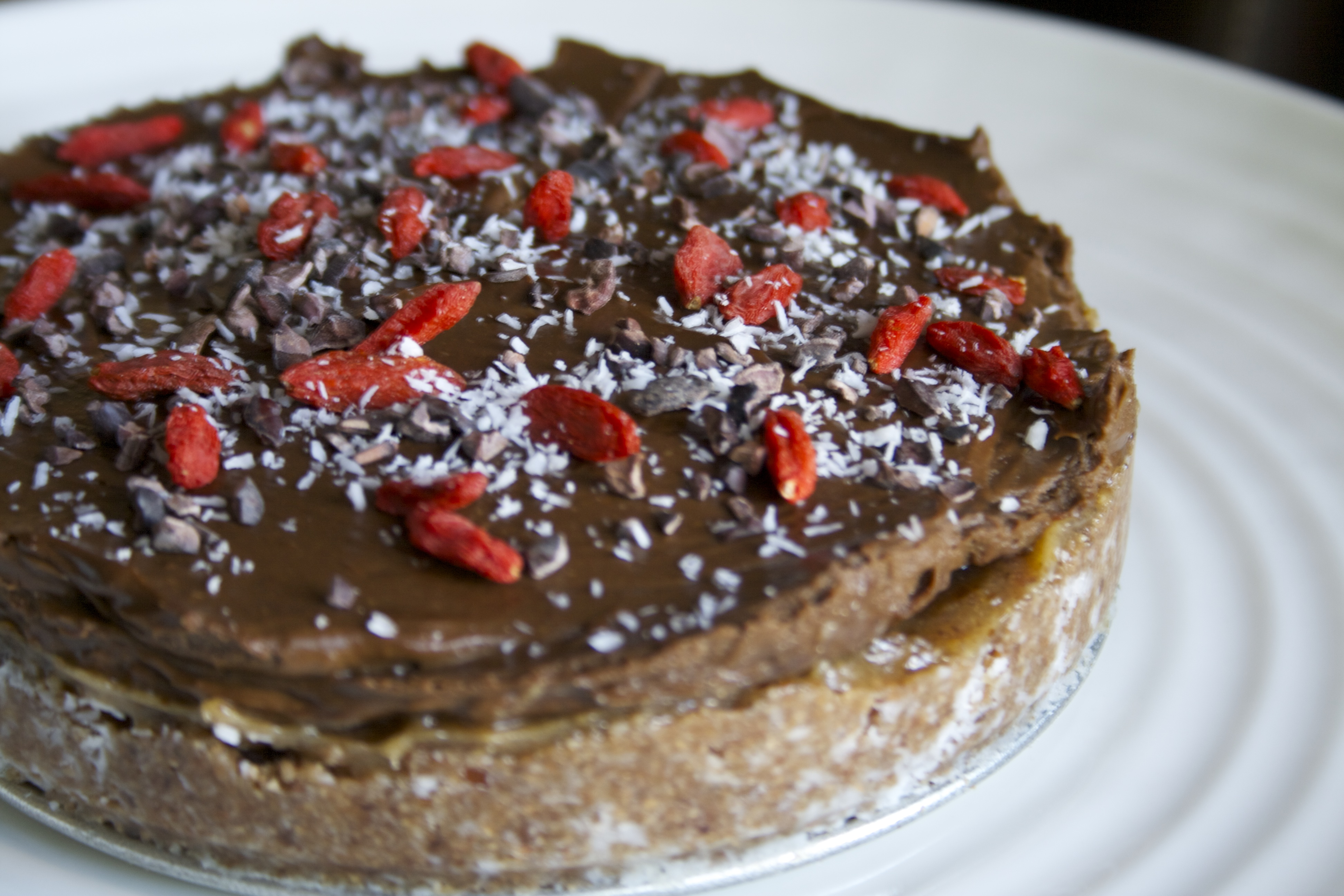 Raw Chocolate Caramel Pie