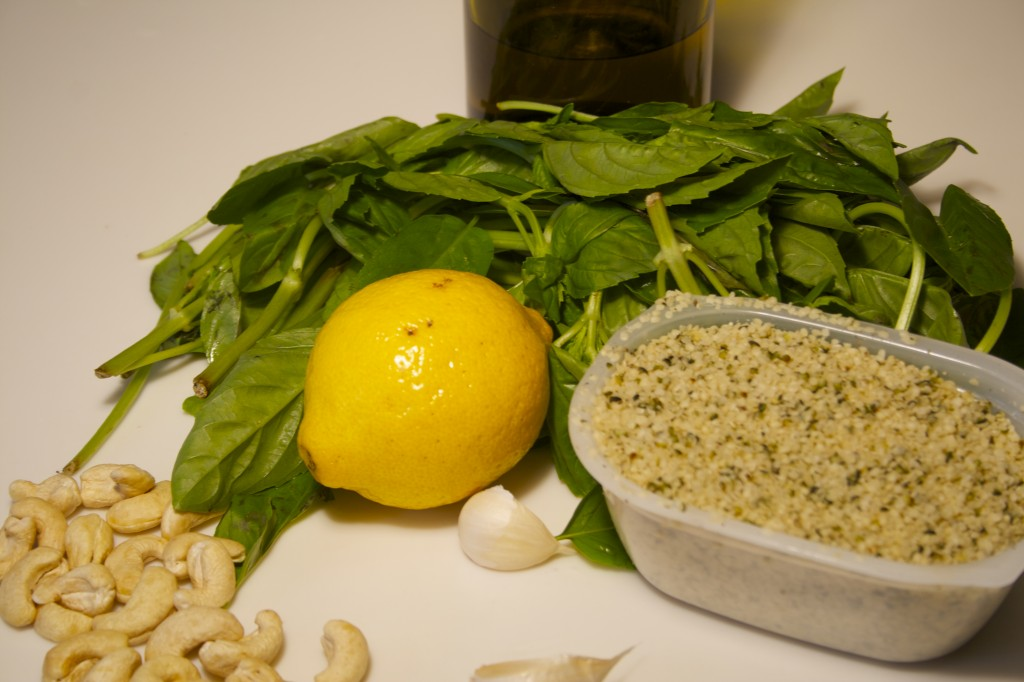 Hemp Seed Pesto Ingredients