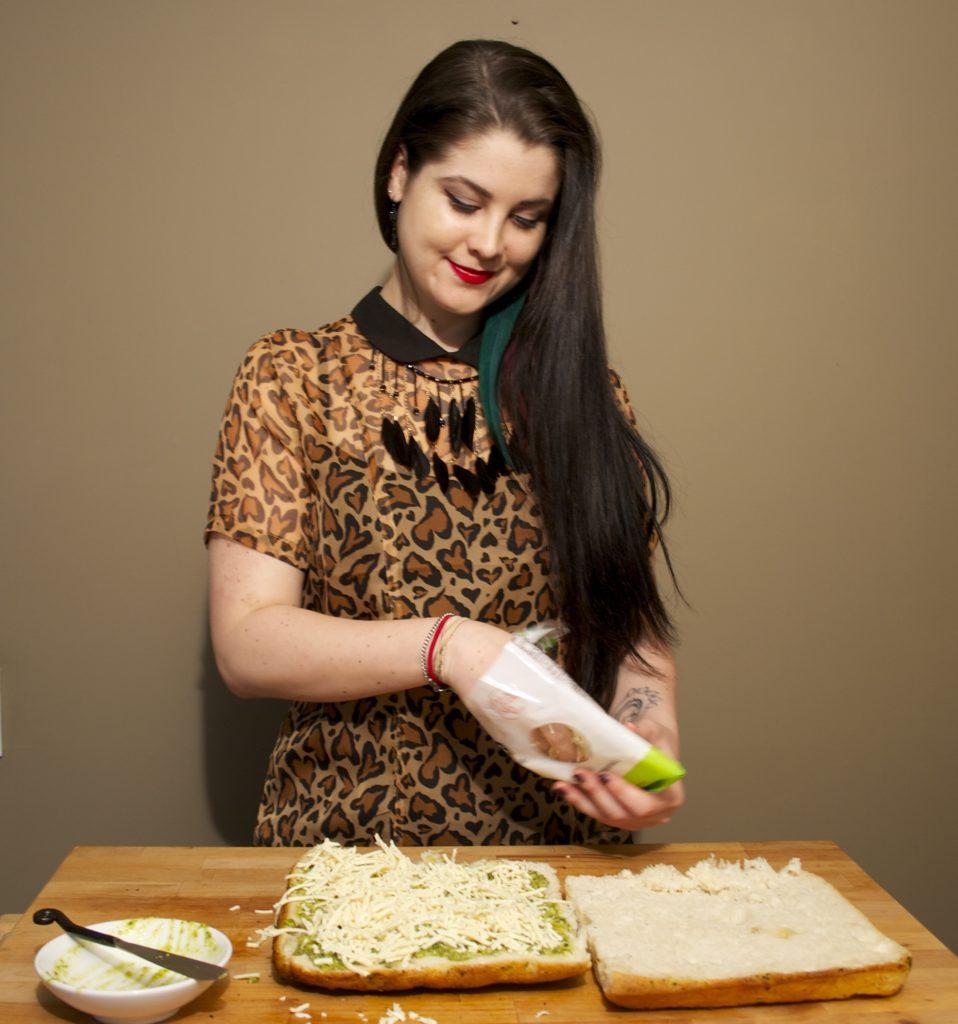 Drop Dead Recipes | Koko's Kitchen | Drop Dead Clothing | Veggie & Cheese Panini
