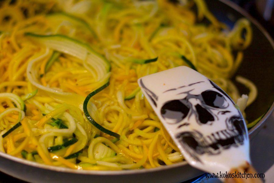 Pumpkin Seed Pesto Zoodles | Koko's Kitchen