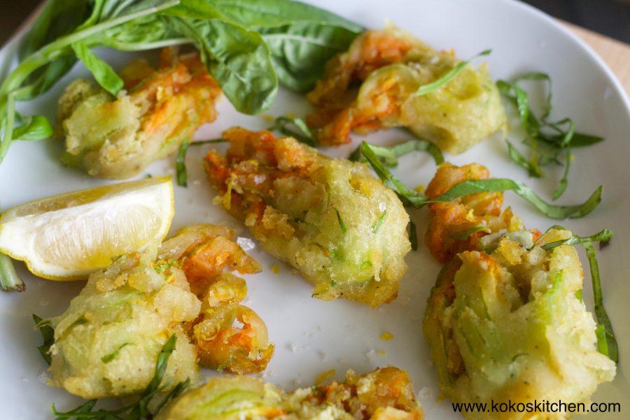 Stuffed Zucchini Blossoms - Koko's Kitchen