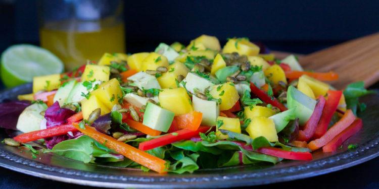 Mango Salad with Honey-Lime Dressing | Koko's Kitchen