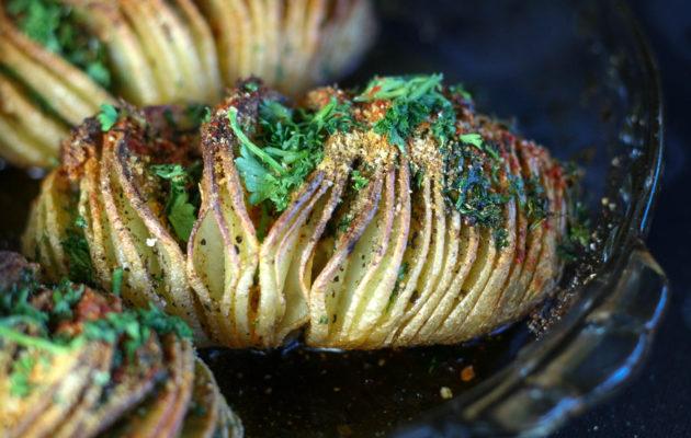 Hasselback Potatoes | Koko's Kitchen