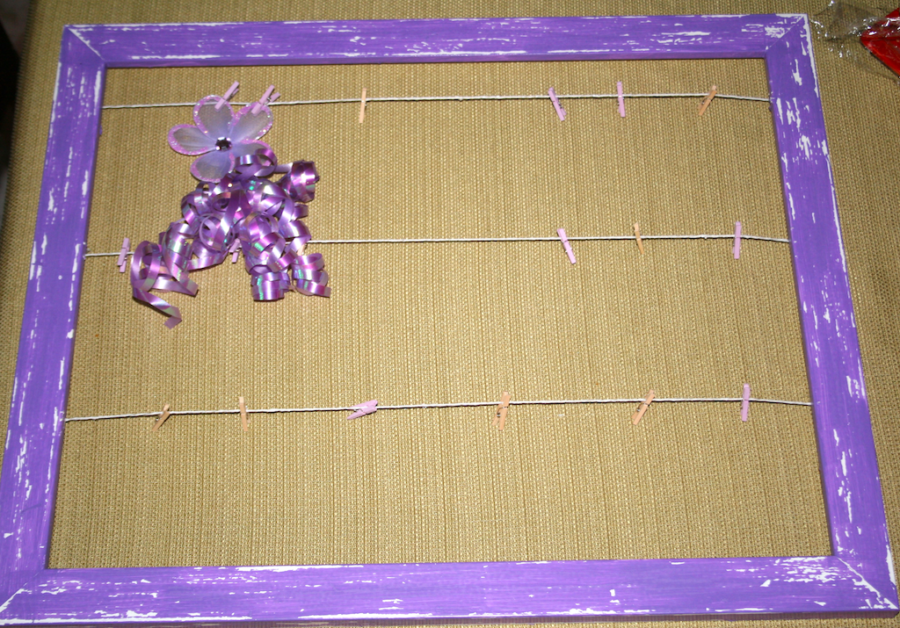 DIY Clothespin Picture Frame