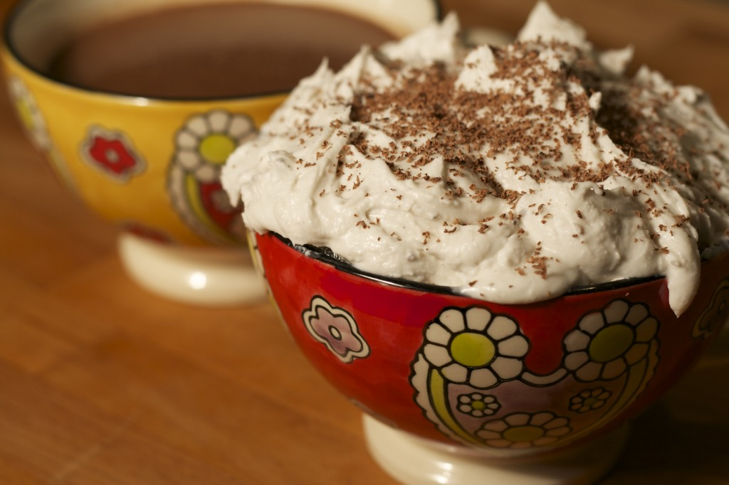 Vegan Hot Chocolate with Peppermint Coconut Cream