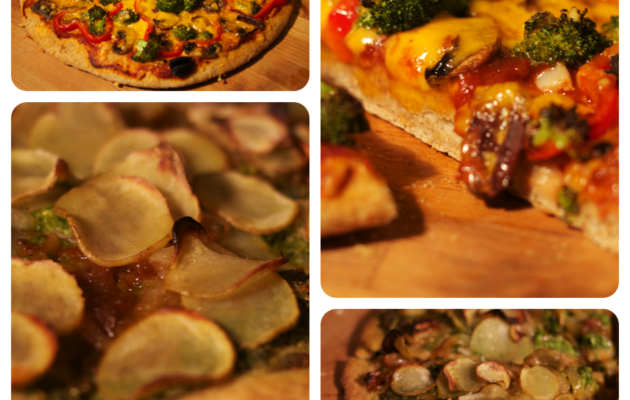 Vegetarian and Vegan Pizzas are shown