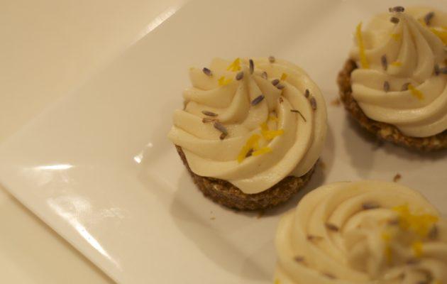 Raw Lemon Lavender Cupcakes
