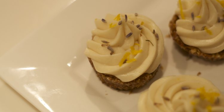 Raw Lemon Lavender Cupcakes