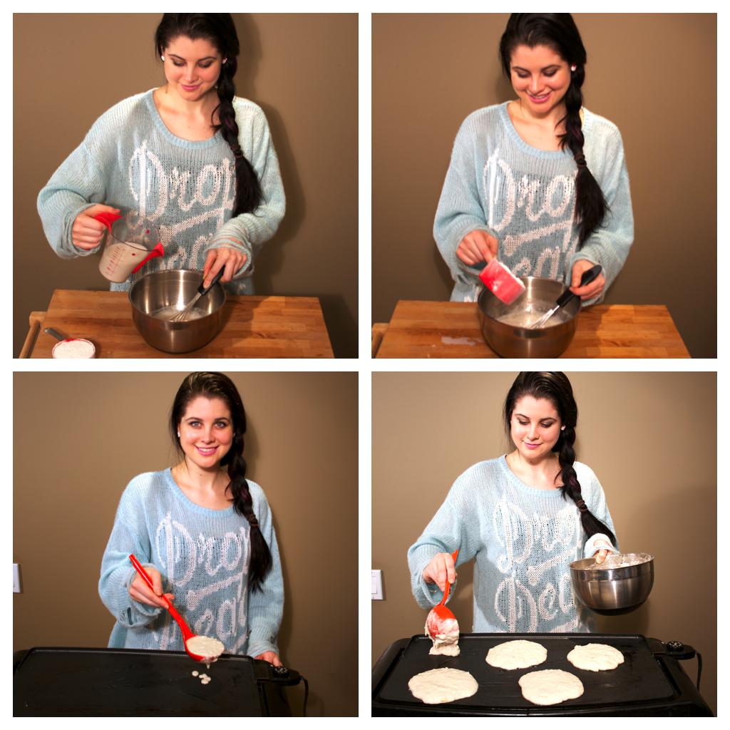 Koko's Kitchen |Drop Dead Clothing | Vegan Lemon Pancakes with Blueberry Sauce