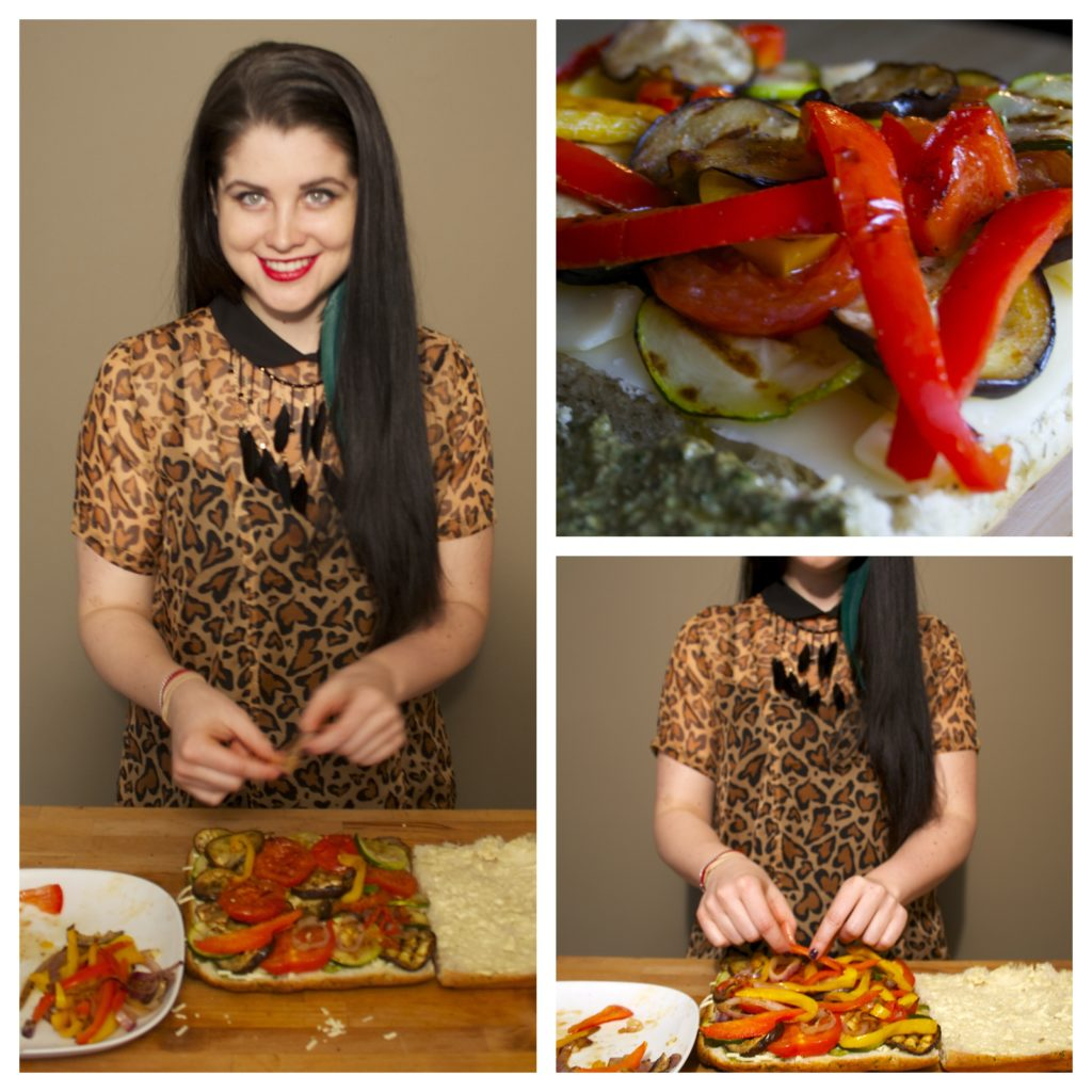 Drop Dead Recipes | Koko's Kitchen | Drop Dead Clothing | Veggie & Cheese Panini