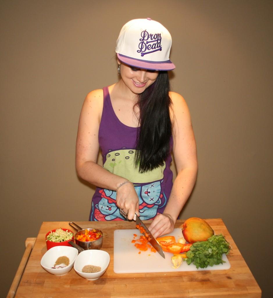 Tropical Quinoa Veggie Burgers | Koko Brill | Koko's Kitchen | Drop Dead Recipes | Drop Dead Clothing