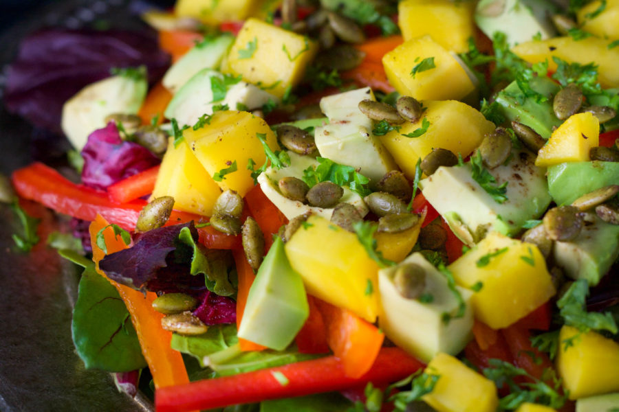 Mango Salad with Honey-Lime Dressing | Koko's Kitchen