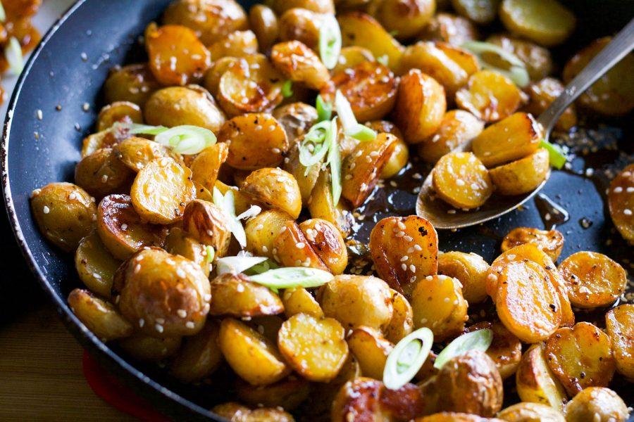 Roasted Honey Chili Potatoes | Koko's Kitchen