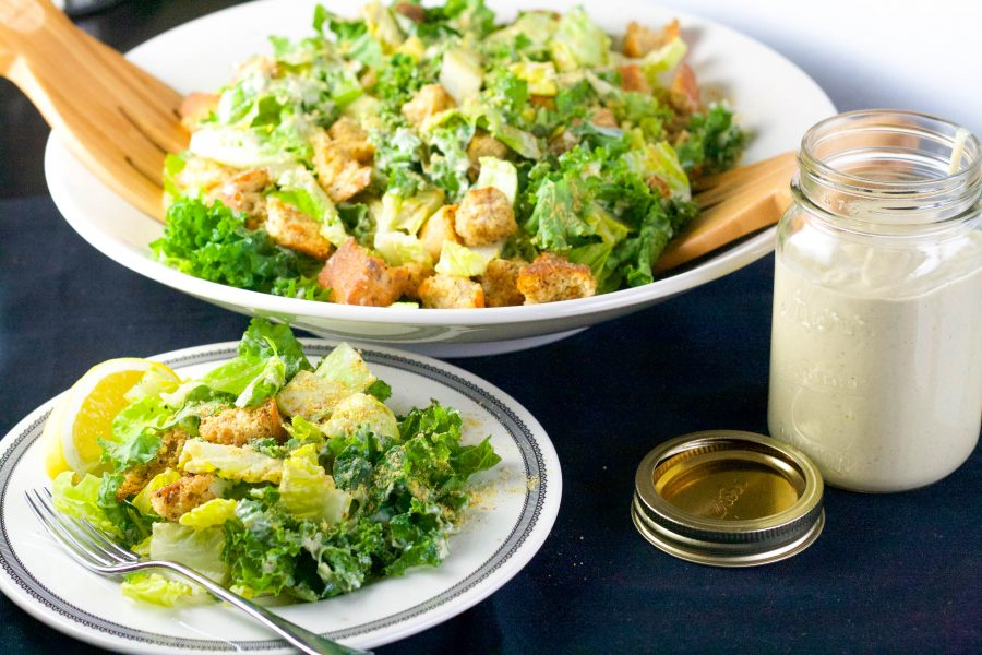 Easy Roasted Garlic Caesar Salad | Koko's Kitchen