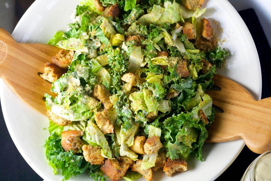 Easy Roasted Garlic Caesar Salad   Koko's Kitchen